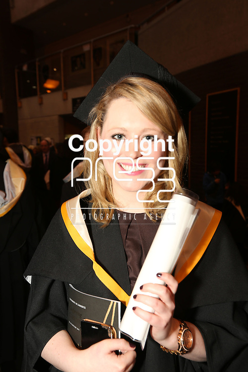 19/1/2015   (with compliments)  Attending the University of limerick conferrings on Monday afternoon was Rachel King, Newmarket on Fergus, Co. Clare conferred with an MSc in Human Resource Management.  Picture Liam Burke/Press 22