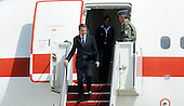 Prime Minister José Luis Rodríguez Zapatero of Spain arrives with his delegation April 12, 2010 at Andrews Air Force Base in Maryland. Leaders from around the world including nuclear powers are meeting in Washington this week for a two-day nuclear security summit. .Credit: Olivier Douliery / Pool via CNP