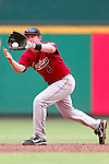 18 July 2007:  Houston Astros shortstop Mark Loretta (8) fields a line drive to end the 3rd inning off the bat of Washington Nationals left fielder Ryan Langerhans.  The Nationals defeated the Astros 7-6 at RFK Stadium in Washington, D.C.  ****For Editorial Use Only****