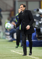 FUSSBALL   CHAMPIONS LEAGUE   SAISON 2011/2012     15.02.2012 AC Mailand - Arsenal London Trainer Massimilliano Allegri (AC Mailand)