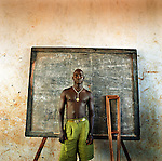Charles, 18 - one of the young men who was abducted and spend years as a child soldier in the bush with the Lords Resistance Army. Now he is in the Save the children supported  Gusco rehabilitation centre in Gulu, North Uganda.
