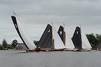SKUTSJESILEN: GROU: SKS skûtsjesilen, Friese Sporten, 30-07-2011, Fryslân, skûtsjes Drachten, Joure, Huizum, Bolsward, ©foto Martin de Jong