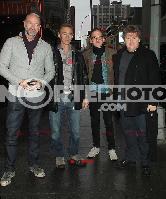 NEW YORK, NY - DECEMBER 7: Graham McTavish, Jed Brophy, Adam Brown and Stephen Hunter at VH1 Morning Buzz in New York City. December 7,2012. Credit: RW/MediaPunch Inc.