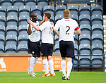 Raith Rovers v St Johnstone...12.07.14  Pre-Season Friendly<br /> Christian Nade celebrates his goal<br /> Picture by Graeme Hart.<br /> Copyright Perthshire Picture Agency<br /> Tel: 01738 623350  Mobile: 07990 594431