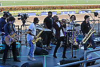 HALLANDALE BEACH, FL - JANUARY 28:  Trombone Shorty & Orleans Avenue perform on Pegasus World Cup Invitational Day at Gulfstream Park on January 28, 2017 in Hallandale Beach, Florida. (Photo by Liz Lamont/Eclipse Sportswire/Getty Images)