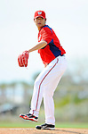 25 February 2012: Washington Nationals' pitcher Chien-Ming Wang works on the mound during the first full squad Spring Training workout at the Carl Barger Baseball Complex in Viera, Florida. Mandatory Credit: Ed Wolfstein Photo