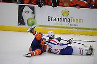 IJSHOCKEY: HEERENVEEN: Thialf, IIHF Ice Hockey U18 World Championship, 03-04-12, Nederland - Kroatie, Rocco van Hoorn (#13), Ivan Jankovic (#23), ©foto Martin de Jong