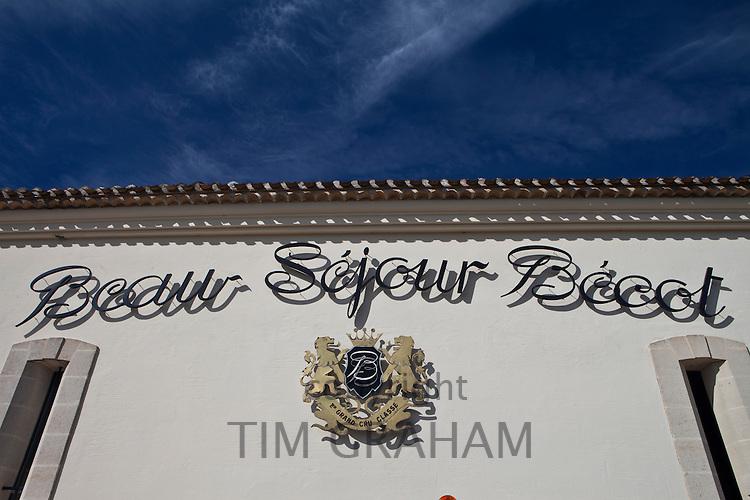 Chateau Beau-Sejour Becot, St Emilion in the Bordeaux wine region of France