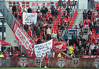 06 October 2012: The Toronto FC fans show their displeasure and protest with the team during an MLS game between DC United and Toronto FC at BMO Field in Toronto, Ontario Canada. .D.C. United won 1-0..