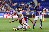 Harrison, NJ - Wednesday Aug. 03, 2016: Felipe MartinsSixto Betancourt, Felipe Martins during a CONCACAF Champions League match between the New York Red Bulls and Antigua at Red Bull Arena.