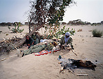 Members of the Revolutionary Armed Forces of Sahara. The RAFS, independent rebel units from Tubu ethnic group, fighting against Nigerien troops in Eastern Niger, They are historically allied with Touareg rebels. Northern Niger. March 2008