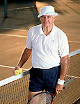 Supreme Court Justice Ben Overton on the tennis court at Killearn.