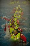 CAMPER crew undergo training at the Marine safety Training Centre in the South Tyneside college, NewCastle in the UK. 2/9/2011