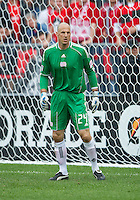 22 May 2010: New England Revolution goalkeeper Preston Burpo #24 in action during a game between the New England Revolution and Toronto FC at BMO Field in Toronto..Toronto FC won 1-0.....