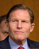 United States Senator Richard Blumenthal (Democrat of Connecticut) listens as Judge Neil Gorsuch testifies before US Senate Judiciary Committee on his nomination as Associate Justice of the US Supreme Court to replace the late Justice Antonin Scalia on Capitol Hill in Washington, DC on Tuesday, March 21, 2017.<br /> Credit: Ron Sachs / CNP /MediaPunch