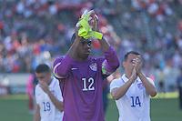 Carson, CA - Sunday, February 8, 2015 Goalkeeper Sean Johnson (12) of the USMNT. The USMNT defeated Panama 2-0 during an international friendly at the StubHub Center