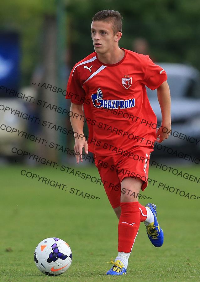 Fudbal season 2013-2014<br /> FK Crvena Zvezda pripreme<br /> Prijateljski mec<br /> Crvena Zvezda v Verzej<br /> Milos Brajovic<br /> Brezice, 07.09.2014.<br /> foto: Srdjan Stevanovic/Starsportphoto &copy;