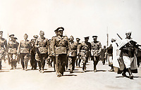 BNPS.co.uk (01202 558833)<br /> Pic: Dickins/BNPS<br /> <br /> Field Marshal Wolfram von Richthofen marching benind General Franco during the Spanish civil War.<br /> <br /> The unseen personal photo album of Field Marshal Wolfram von Richthofen, cousin to the legendary Red Baron, which gives an unprecedented insight into his military career in the Third Reich, has been rediscovered.<br /> <br /> Wolfram served in the Red Baron's squadron in the WW1, went on to design the 'Jericho trumpet' of the infamous Stuka Bomber between the wars, before leading the Condor Legion in the Spanish Civil War.<br /> <br /> After the outbreak of WW2 the fascinating album shows Richthofen's lead roll in Operation Barbarossa - the Nazi's suprise invasion of Communist Russia and their race to conquer the vast country before the onset of the notorious Russian winter.<br /> <br /> The two albums were taken from Berlin by a British soldier at the end of the Second World War who kept it for 60 years before it was passed into the hands of a private collector.<br /> <br /> Dickins auctions are selling the historic albums with a &pound;20,000 estimate on 31st March.