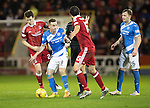 Aberdeen v St Johnstone&hellip;10.12.16     Pittodrie    SPFL<br />Steven MacLean battles with Ryan Jack<br />Picture by Graeme Hart.<br />Copyright Perthshire Picture Agency<br />Tel: 01738 623350  Mobile: 07990 594431