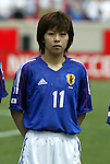 6 June 2004: Mio Otani during player introductions. The United States tied Japan 1-1 at Papa John's Cardinal Stadium in Louisville, KY in an international friendly soccer game..