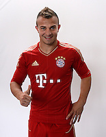 FUSSBALL     1. BUNDESLIGA     SAISON  2012/2013     30.07.2012 Fototermin beim  FC Bayern Muenchen  Xherdan Shaqiri (FC Bayern Muenchen)