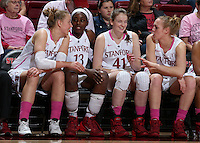 STANFORD, CA - February 16, 2014: Stanford Cardinal during Stanford's 74-48 victory over Arizona at Maples Pavilion.