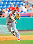 7 March 2012: St. Louis Cardinal infielder Daniel Descalso in action against the Washington Nationals at Space Coast Stadium in Viera, Florida. The teams battled to a 3-3 tie in Grapefruit League Spring Training action. Mandatory Credit: Ed Wolfstein Photo