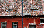 'Windows to the soul'. 'Eyelid' windows, Sibiu (European Capital of Culture 2007), Transylvania, Romania