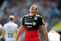 Alex Goode of Saracens celebrates his second half try. Aviva Premiership Final, between Saracens and Exeter Chiefs on May 28, 2016 at Twickenham Stadium in London, England. Photo by: Patrick Khachfe / JMP