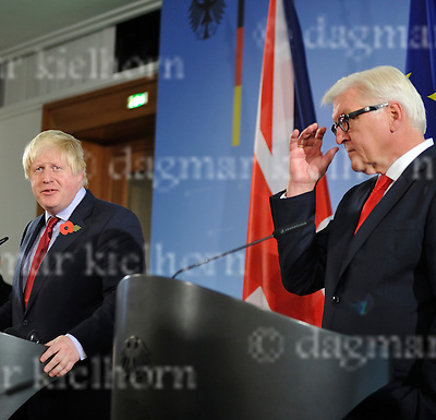 November 04-16,German Foreign Office<br /> German FM Frank-Walter Steinmeier is to meet UK Foreign Minister Boris Johnson in Berlin