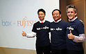 Box Inc. CEO Aaron Levie attends press conference announcing Box and Fujitsu partnership