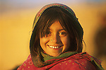 An ethnic Hazara girl, a refugee from Afghanistan, who lives in Quetta, Pakistan.