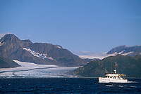 Tour boat, Resurrection Bay, Bear glacier, Kenai Fjords National Park, Alaska