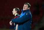 St Johnstone v Partick Thistle&hellip;02.03.16  SPFL McDiarmid Park, Perth<br />Tommy Wright complains about time wasting<br />Picture by Graeme Hart.<br />Copyright Perthshire Picture Agency<br />Tel: 01738 623350  Mobile: 07990 594431