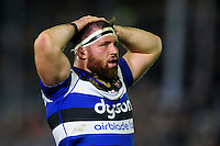 Henry Thomas of Bath Rugby looks on during a break in play. Aviva Premiership match, between Bath Rugby and Sale Sharks on October 7, 2016 at the Recreation Ground in Bath, England. Photo by: Patrick Khachfe / Onside Images