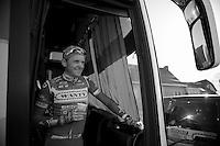 morning coffee for James Vanlandschoot (BEL)<br /> <br /> Kuurne-Brussel-Kuurne 2014