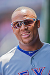 1 June 2014: Texas Rangers third baseman Adrian Beltre in the dugout during a game against the Washington Nationals at Nationals Park in Washington, DC. The Rangers shut out the Nationals 2-0 to salvage the third the third game of their 3-game inter-league series. Mandatory Credit: Ed Wolfstein Photo *** RAW (NEF) Image File Available ***