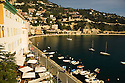 View of port and bay of Villefranche.  Near Nice in the South of France.