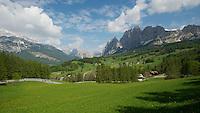 A Thomson Bike Tours Giro d'Italia trip--valley across from Passo Giau