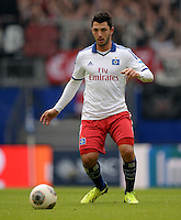 FUSSBALL   1. BUNDESLIGA   SAISON 2013/2014   9. SPIELTAG Hamburger SV - VfB Stuttgart                               20.10.2013 Tolgay Arslan (Hamburger SV)  am Ball