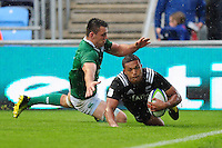 Malo Tuitama of New Zealand U20 scores a try in the second half. World Rugby U20 Championship match between New Zealand U20 and Ireland U20 on June 11, 2016 at the Manchester City Academy Stadium in Manchester, England. Photo by: Patrick Khachfe / Onside Images