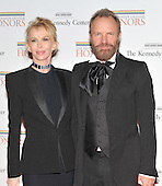Washington, DC - December 5, 2009 -- Ms. Trudie Styler and Sting arrive for the formal Artist's Dinner at the United States Department of State in Washington, D.C. on Saturday, December 5, 2009..Credit: Ron Sachs / CNP.(RESTRICTION: NO New York or New Jersey Newspapers or newspapers within a 75 mile radius of New York City)