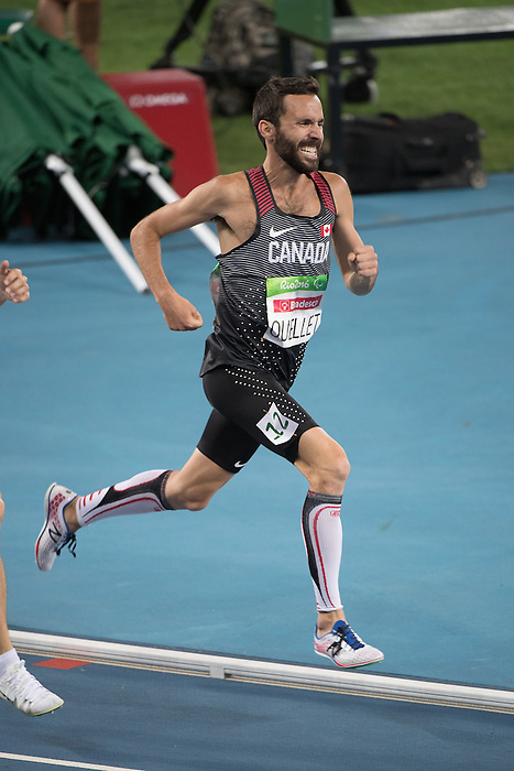 RIO DE JANEIRO - 11/9/2016:  Guillaume Ouellet competes in the Men's 1500m - T13 Final at the Olympic Stadium during the Rio 2016 Paralympic Games in Rio de Janeiro, Brazil. (Photo by Matthew Murnaghan/Canadian Paralympic Committee