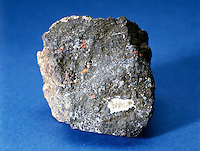 ARSENIC<br /> Metalloid<br /> Arsenic (As), at wt. 74.92, at no. 33, is a metalloid. Sample is a steel-gray, brittle mineral specimen with a little stibnite.
