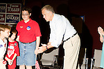 September 20, 2014. Greensboro, North Carolina.<br />  US Senate candidate Thom Tillis, greeted the kids who would say the Pledge of Allegiance.<br />  Thom Tillis and Mark Walker hosted a rally at the Guilford County Republican Party headquarters for their supporters in the upcoming November election. Tillis, the current Speaker of the House for the NC House of Representatives, is running to take Democrat Kay Hagan's US Senate seat, while Walker, a local pastor, is running for the NC 6th District' s US Congressional seat.
