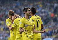 FUSSBALL   DFB POKAL 2. RUNDE   SAISON 2013/2014 TSV 1860 Muenchen - Borussia Dortmund         24.09.2013 JUBEL Dortmund; Torschuetze zum 0-2 Henrikh Mkhitaryan (Mitte)