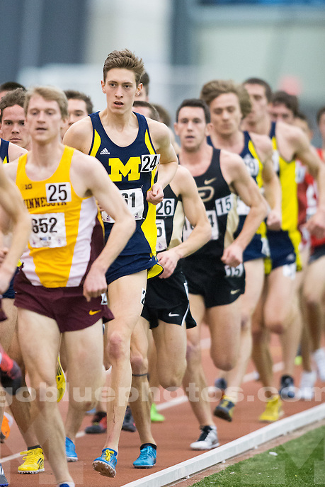 2/28/2015 Men's track and field at the Big Ten Championships.