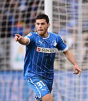 FUSSBALL   1. BUNDESLIGA   SAISON 2012/2013   20. SPIELTAG    TSG 1899 Hoffenheim  - SC Freiburg      02.02.2013 JUBEL TSG 1899 Hoffenheim: Torschutze zum 2-1  Kevin Volland