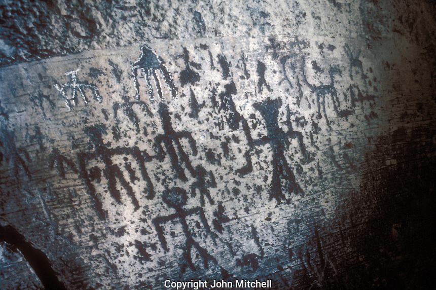 Ancient petroglyphs from Lake Chapala, Regional Museum of Guadalajara, Jalisco, Mexico