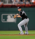 15 August 2008: Colorado Rockies' shortstop Troy Tulowitzki handles a grounder by Ryan Zimmerman in the fifth inning against the Washington Nationals at Nationals Park in Washington, DC.  The Rockies edged out the Nationals 4-3, handing the last place Nationals their 8th consecutive loss. ..Mandatory Photo Credit: Ed Wolfstein Photo